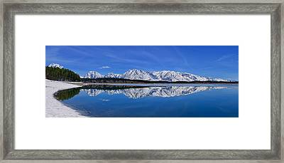 Teton End Of Winter Reflections Framed Print by Greg Norrell