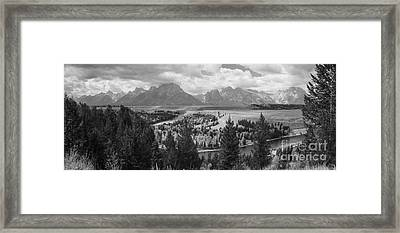 Teton Mountain Range Panorama Framed Print by Vishwanath Bhat