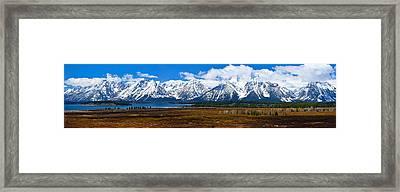 Teton Panorama 2012 Framed Print by Greg Norrell