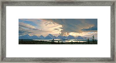Teton Range From Signal Mountain Framed Print by Paul Krapf