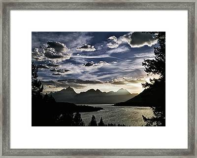 Teton Range Sunset Framed Print by Leland D Howard