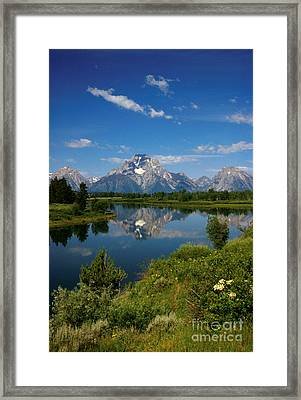 Teton Reflection Framed Print by Jerry McElroy