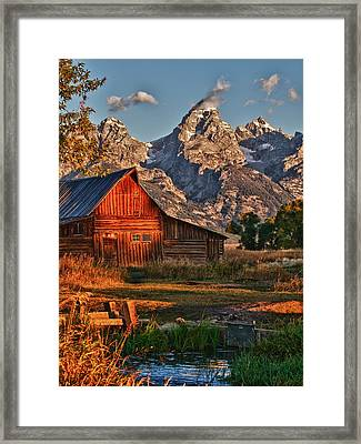 Teton Sunrise Framed Print by Rob Wilson