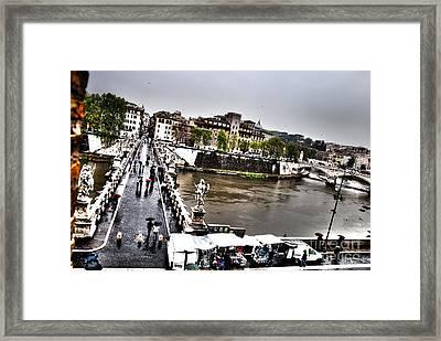 Tevere In Rain Framed Print by Francesco Zappala