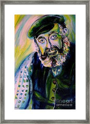 Tevye Fiddler On The Roof Framed Print by Carole Spandau
