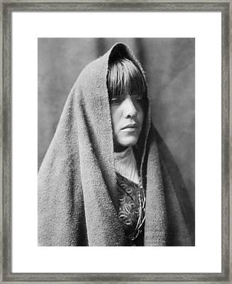 Tewa Indian Woman Circa 1905 Framed Print by Aged Pixel