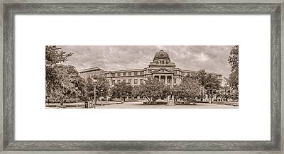 Texas A And M Academic Plaza - College Station Texas Framed Print by Silvio Ligutti