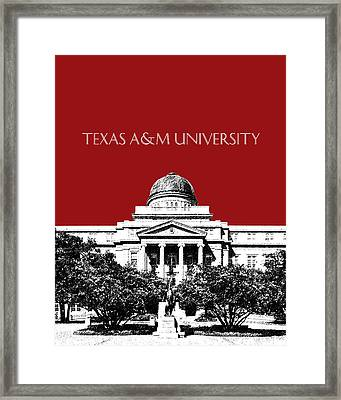 Texas A And M University - Dark Red Framed Print by DB Artist