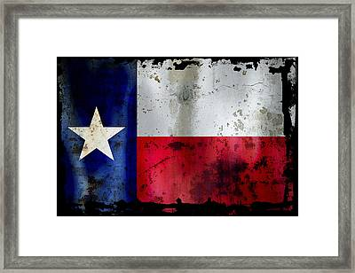 Texas Battle Flag Framed Print by Daniel Hagerman