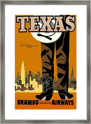 Texas Braniff Intl Airways Framed Print by Mark Rogan