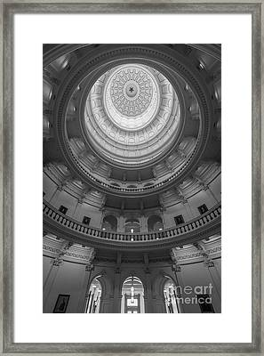 Texas Capitol Dome Interior Framed Print by Inge Johnsson