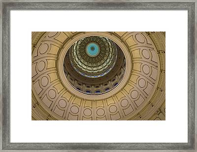 Texas Capitol Inside Of The Dome Framed Print by Eje Gustafsson