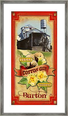 Texas Cotton Gin Museum Burton Framed Print by Jim Sanders
