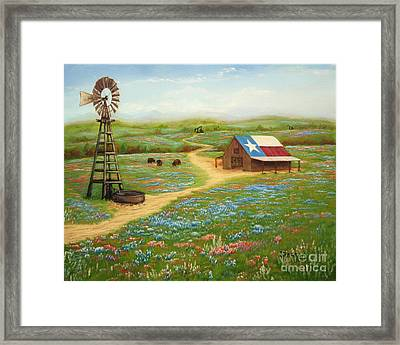 Texas Countryside Framed Print by Jimmie Bartlett