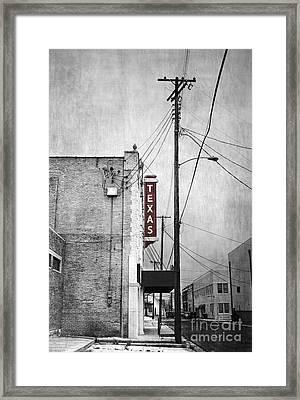 Texas Framed Print by Elena Nosyreva