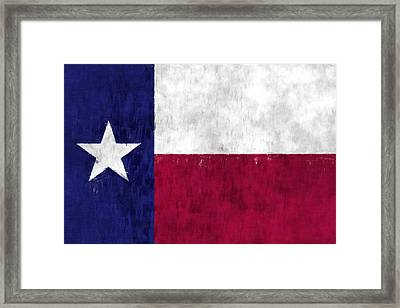 Texas Flag Framed Print by World Art Prints And Designs