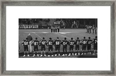 Texas High School Football  Framed Print by Shawn Marlow