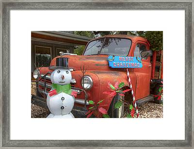 Texas Hill Country Images - Christmas Wishes From Wimberley Tex Framed Print by Rob Greebon