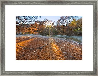 Texas Hill Country Images - Pedernales Falls State Park And The  Framed Print by Rob Greebon