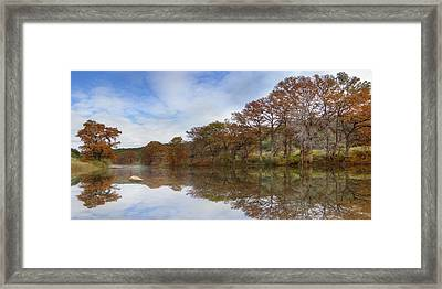 Texas Hill Country Images - Pedernales Falls State Park Panorama Framed Print by Rob Greebon