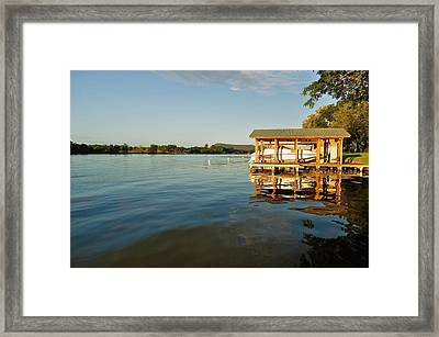 Texas Hill Country Lake Framed Print by Kristina Deane