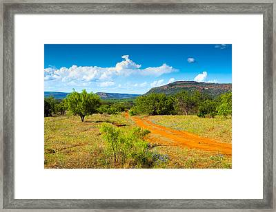Texas Hill Country Red Dirt Road Framed Print by Darryl Dalton
