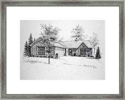 Texas Home 1 Framed Print by Hanne Lore Koehler