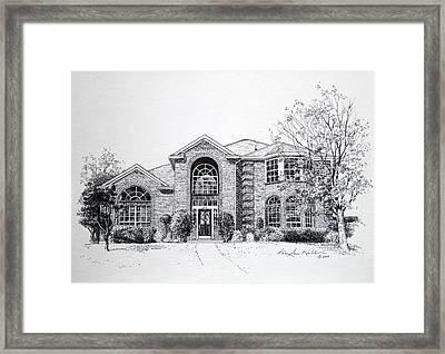 Texas Home 2 Framed Print by Hanne Lore Koehler