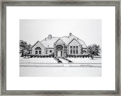 Texas Home 3 Framed Print by Hanne Lore Koehler