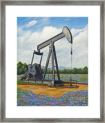 Texas Oil Well Framed Print by Jimmie Bartlett