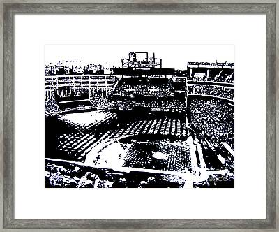 Texas Rangers Ballpark Framed Print by Rob Monte
