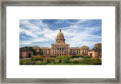 Texas State Capitol II Framed Print by Joan Carroll