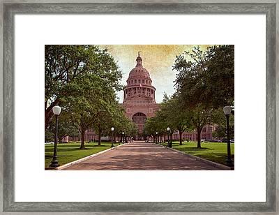 Texas State Capitol IIi Framed Print by Joan Carroll