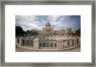 Texas State Capitol Iv Framed Print by Joan Carroll