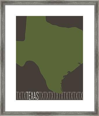 Texas State Modern Framed Print by Flo Karp