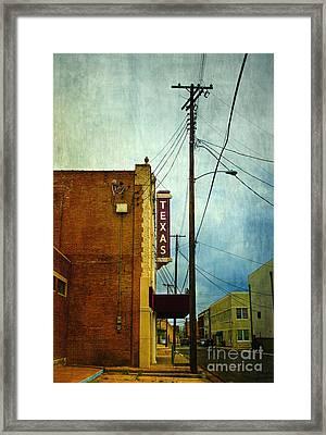 Texas Theater Framed Print by Elena Nosyreva