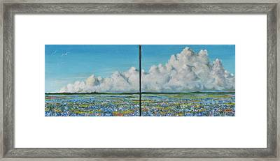 Bluebonnet Storm Framed Print by James Taylor