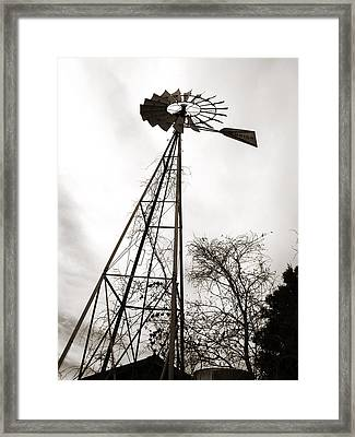 Texas Windmill Framed Print by Marilyn Hunt