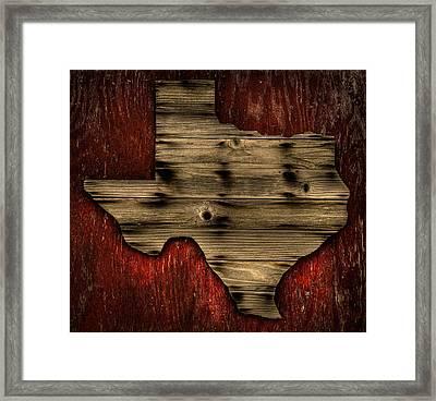 Texas Wood Framed Print by Darryl Dalton