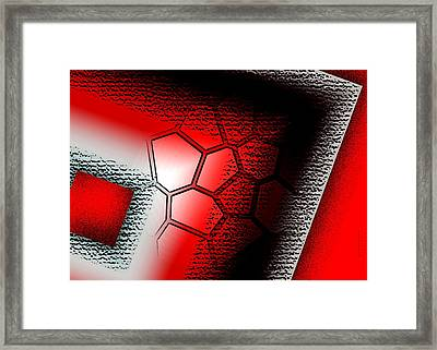 Texture In White Black And Red Design Framed Print by Mario Perez