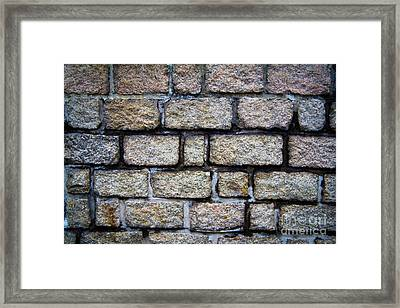 Texture Of Old Wall Framed Print by Niphon Chanthana