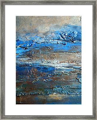 Textured Original Abstract Dune Framed Print by Holly Anderson