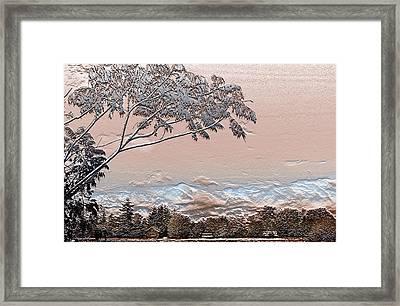 Textured Summer Framed Print by Barbara  White