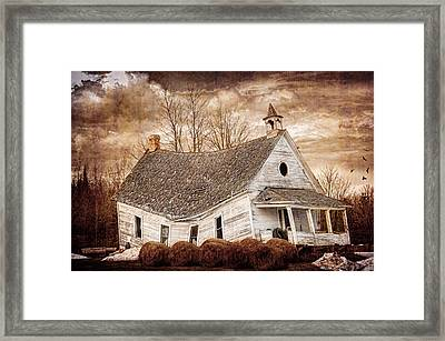 Textured Sway Back School House Framed Print by Paul Freidlund