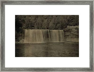 Textured Tahquamenon Falls Framed Print by Dan Sproul