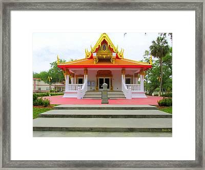 Thai Buddhist Temple I Framed Print by Buzz  Coe