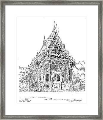 Thai Temple Framed Print by L D Williams