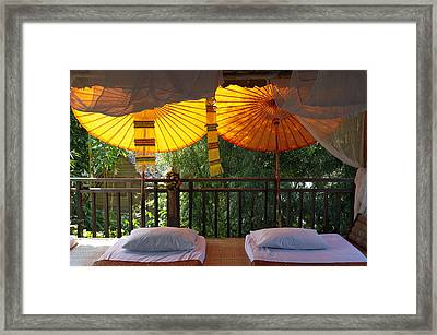 Thailand, Baan Pai, Village Hotel � Framed Print by Tips Images
