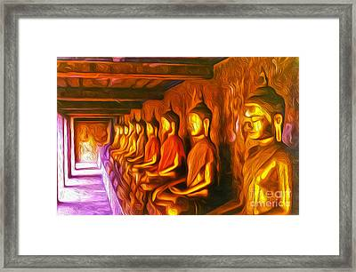 Thailand Buddhas Framed Print by Gregory Dyer