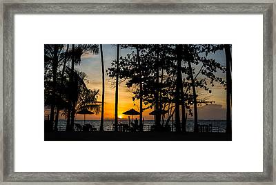 Thailand Sunset Framed Print by Mike Lee